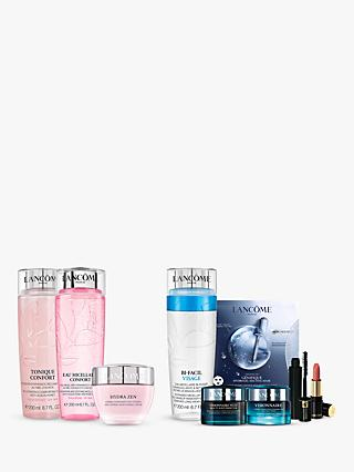 Lancôme Micellar Water, Tonique Confort and Hydra Zen Neurocalm Bundle with Gift