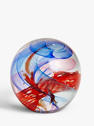 John Lewis & Partners Glass Swirl Paperweight