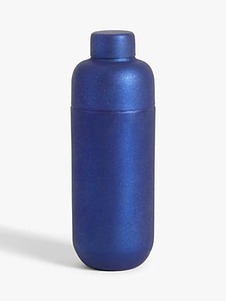John Lewis & Partners Classic Metallic Cocktail Shaker, Blue, 680ml