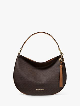 f69156a6d4 MICHAEL Michael Kors Brooke Large Leather Logo Hobo Bag, Brown/Acron