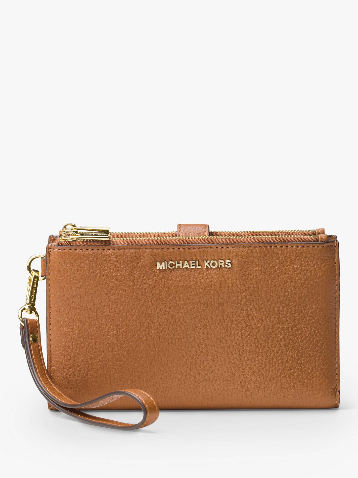 b4d7114e48d457 Buy MICHAEL Michael Kors Adele Leather Smartphone Wallet, Acorn Online at  johnlewis.com ...