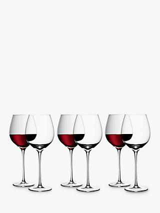 9adba2e1321 LSA International Red Wine Glasses, Set of 6, 750ml, Clear