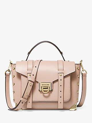 MICHAEL Michael Kors Manhattan Leather Satchel, Soft Pink