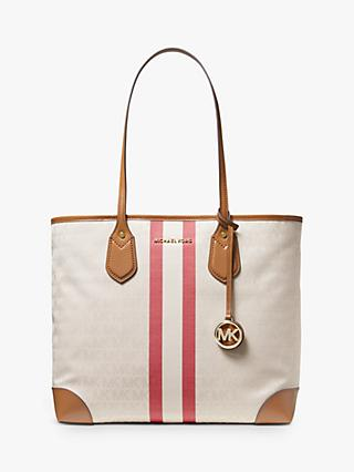 84e9e078bc2f47 MICHAEL Michael Kors Eva Large Stripe Tote Bag, Multi