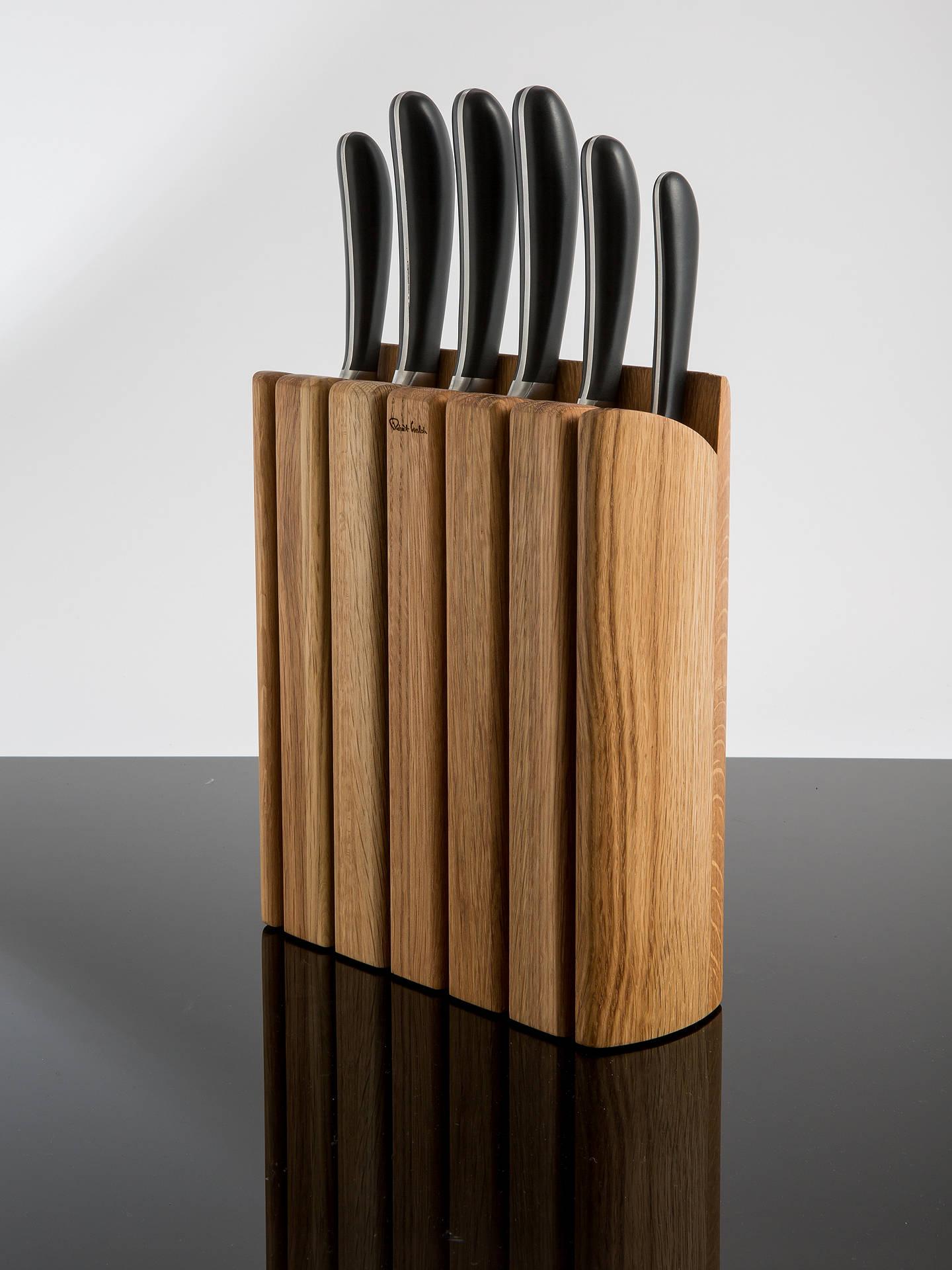welch kitchen knives robert welch signature book oak wood filled knife block