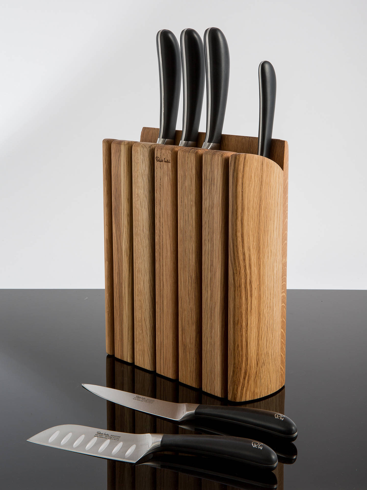 Welch Kitchen Knives | robert welch signature book oak wood filled knife block