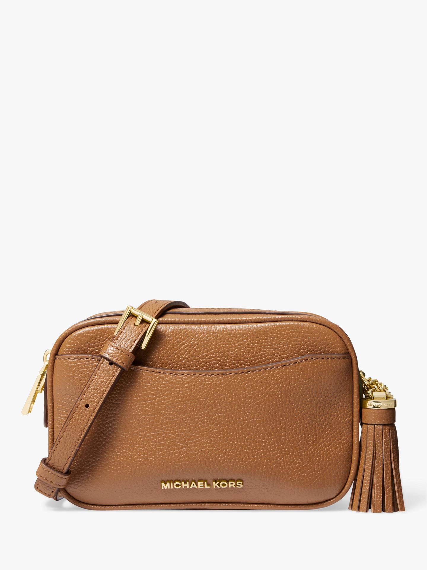 febee72fe Buy MICHAEL Michael Kors Pebbled Leather Convertible Camera Bag, Acorn  Online at johnlewis.com ...