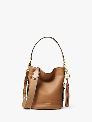 MICHAEL Michael Kors Brooke Medium Leather Bucket Bag