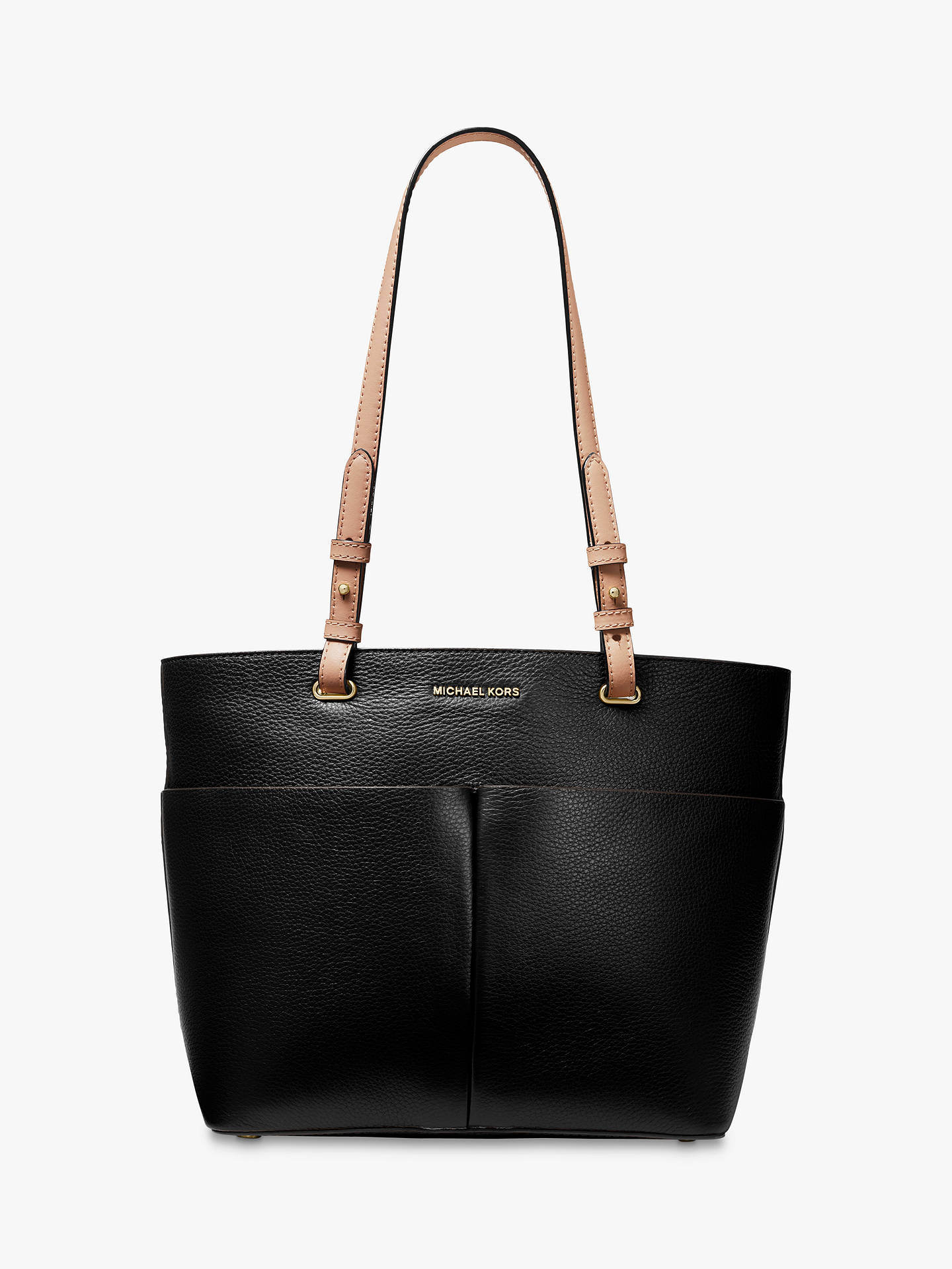 bfc50e2a5584 Buy MICHAEL Michael Kors Bedford Pocket Tote Bag, Black Online at  johnlewis.com ...