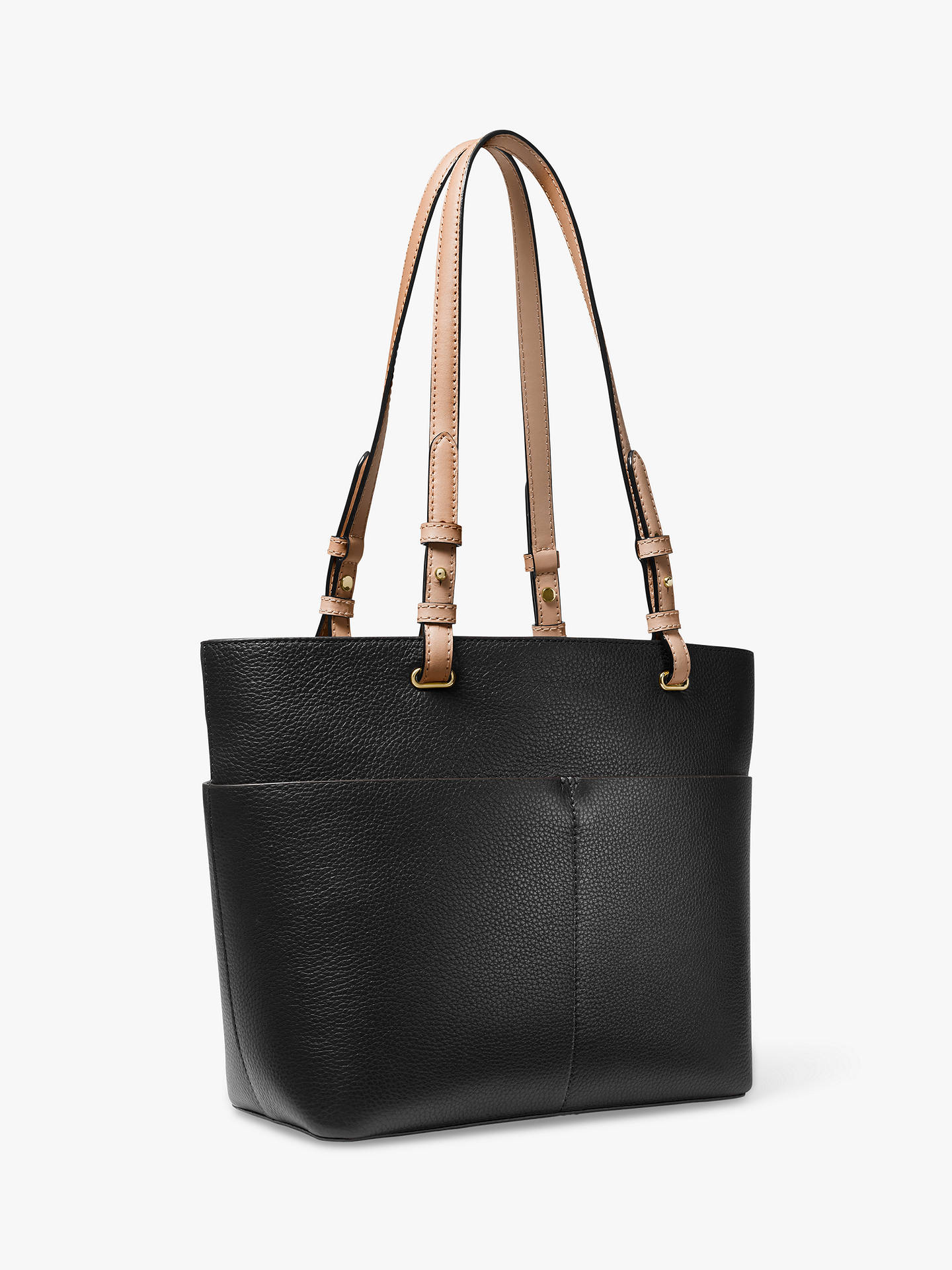 6e03162866ec ... Buy MICHAEL Michael Kors Bedford Pocket Tote Bag, Black Online at  johnlewis.com ...