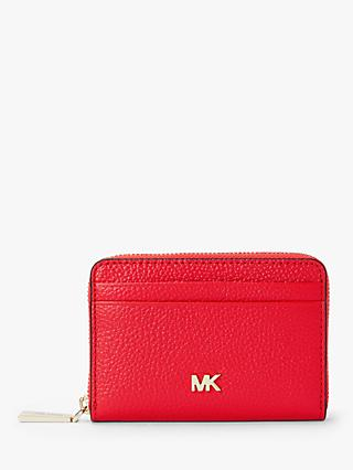 a98966e2f4ae92 MICHAEL Michael Kors Money Pieces Leather Card Purse, Sea Coral