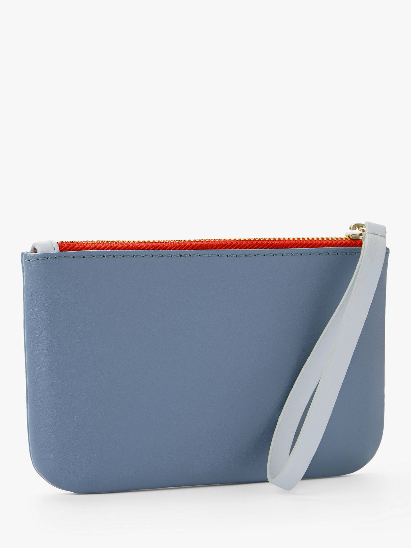 Buy John Lewis & Partners Leather Alphabet Coin Purse, Light Blue C Online at johnlewis.com