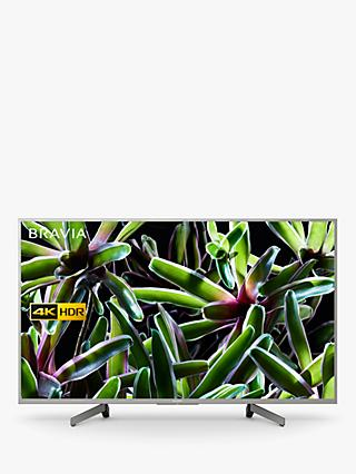 "Sony Bravia KD49XG7073 (2019) LED HDR 4K Ultra HD Smart TV, 49"" with Freeview Play, Silver"