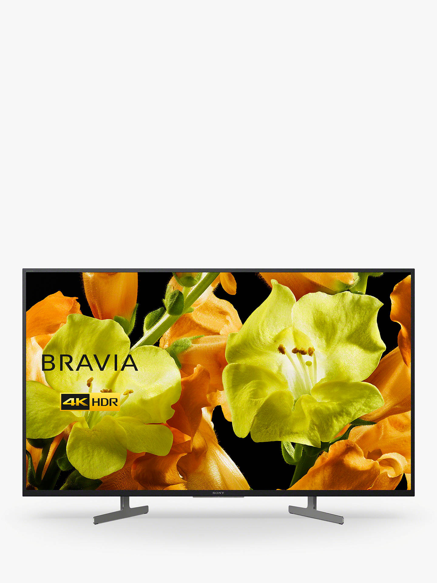 "Buy Sony Bravia KD49XG8196 (2019) LED HDR 4K Ultra HD Smart Android TV, 49"" with Freeview HD & Youview, Black Online at johnlewis.com"