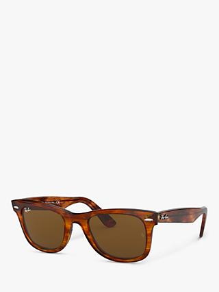 Ray-Ban RB2140 Unisex Original Wayfarer Sunglasses, Light Tortoise/Brown