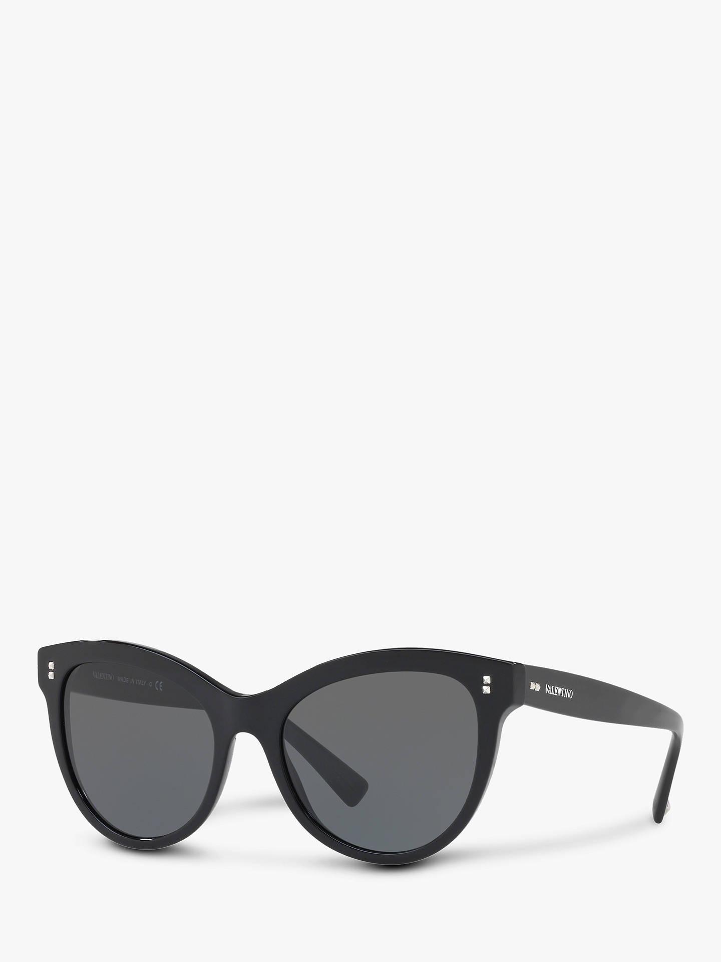 2e6f7dea0c2f3 Buy Valentino VA4013 Women's Cat's Eye Sunglasses, Black/Grey Online at  johnlewis. ...