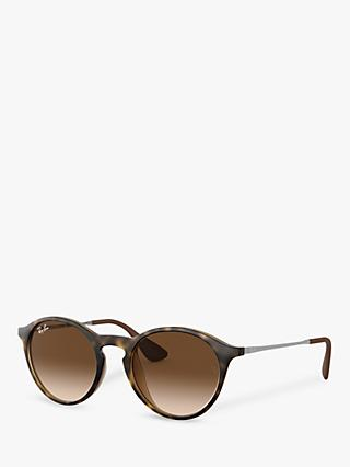 Ray-Ban RB4243 Unisex Oval Sunglasses, Tortoise/Brown Gradient