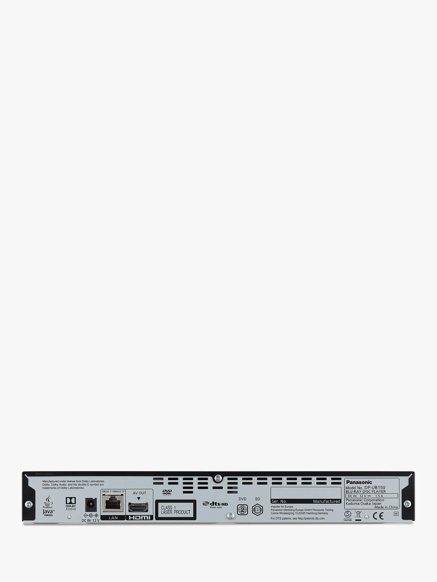 Panasonic DP-UB150EB 3D 4K UHD Blu-Ray/DVD Player with High Resolution  Audio, Ultra HD Premium Certified