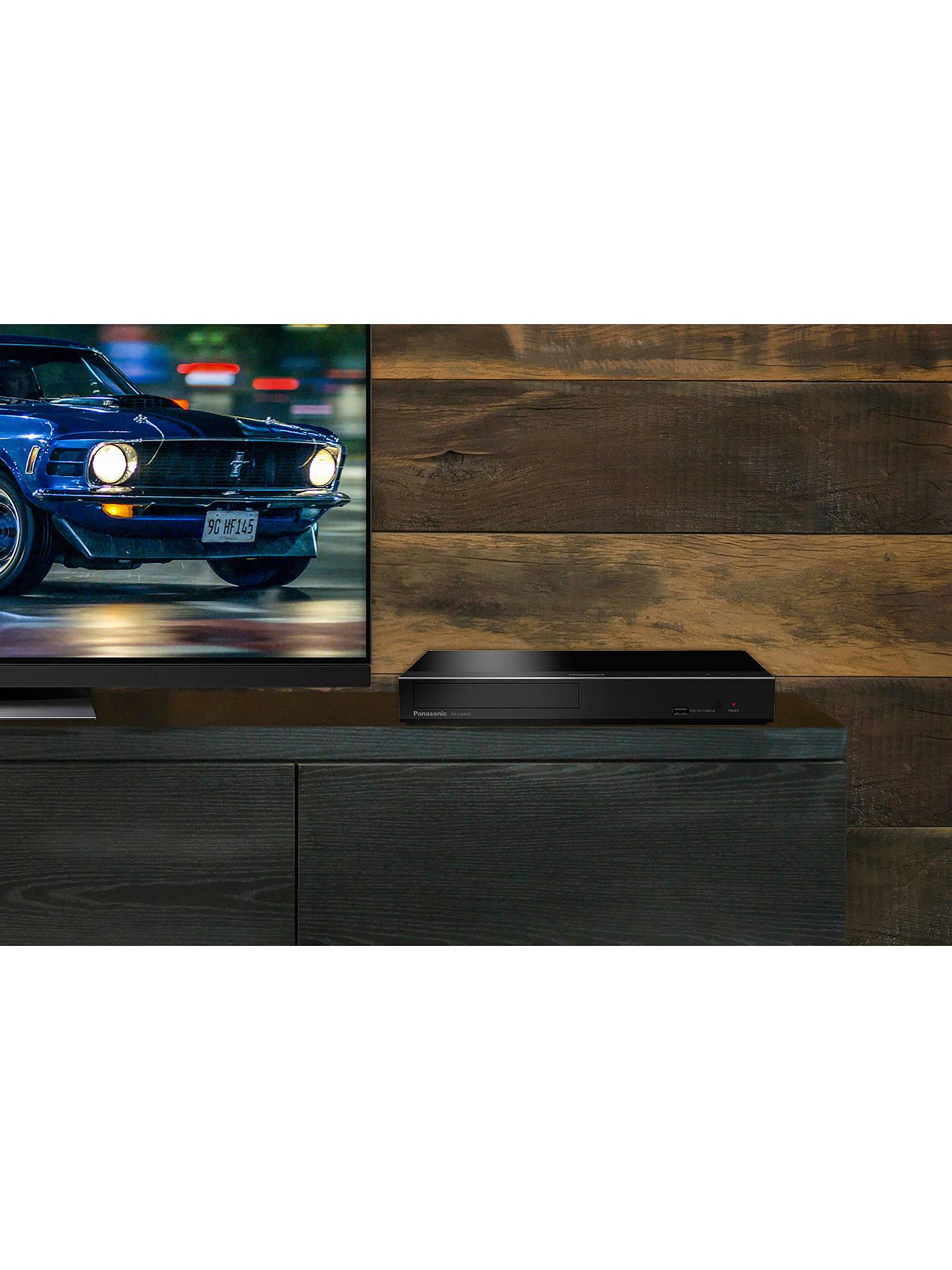 Panasonic DP-UB450EB 3D 4K UHD HDR Blu-Ray/DVD Player with High Resolution  Audio, Ultra HD Premium Certified