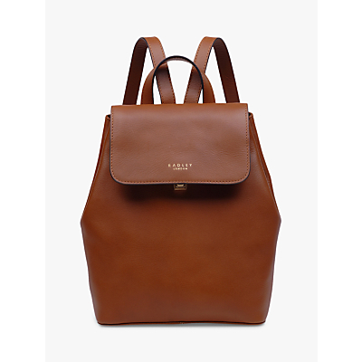 Radley Sandler Medium Leather Backpack, Tan