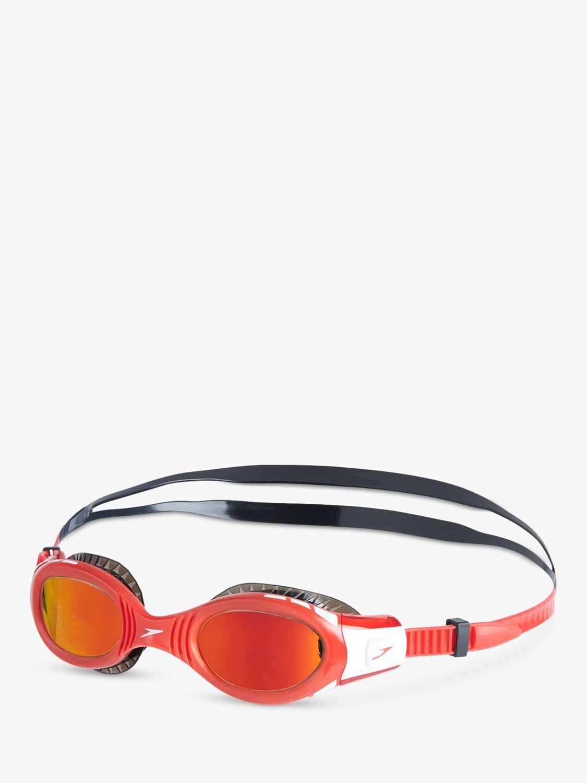 Speedo Speedo Futura Biofuse Flexiseal Children's Swimming Goggles, Black/Red/Orange