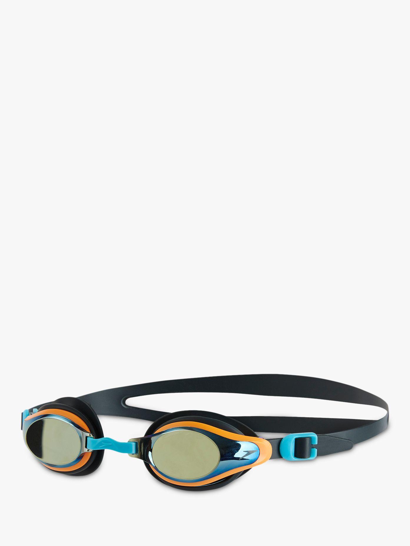 Speedo Speedo Mariner Supreme Mirror Children's Swimming Goggles, Grey/Java/Titanium