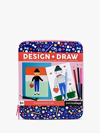 Petit Collage Fashionistas Design and Draw Activity Kit