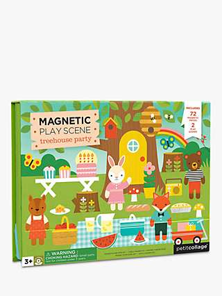 Petit Collage Magnetic Treehouse Party Play Set