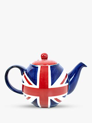 London Pottery Union Jack 2 Cup Teapot, 500ml, Multi