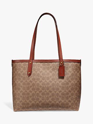 fc2141dc1202 Coach Signature Central Zip Top Tote Bag