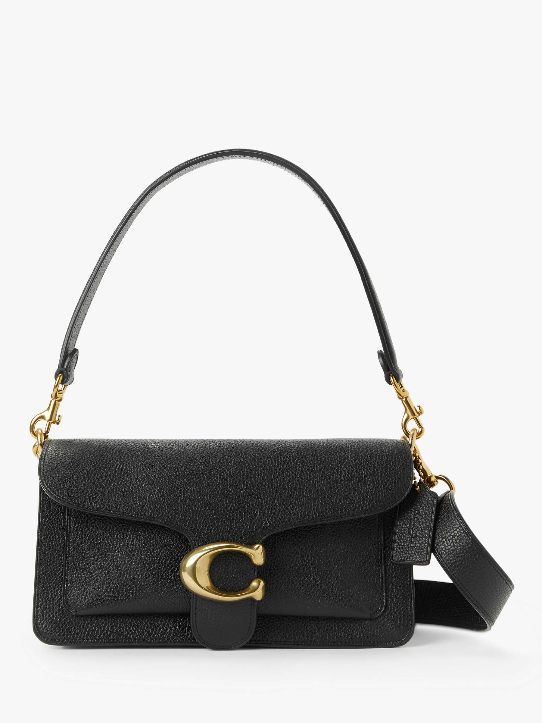 Coach Tabby 26 Leather Shoulder Bag, Black by John Lewis