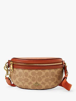 7e40ca5284b6 Coach Leather Signature Belt Bag