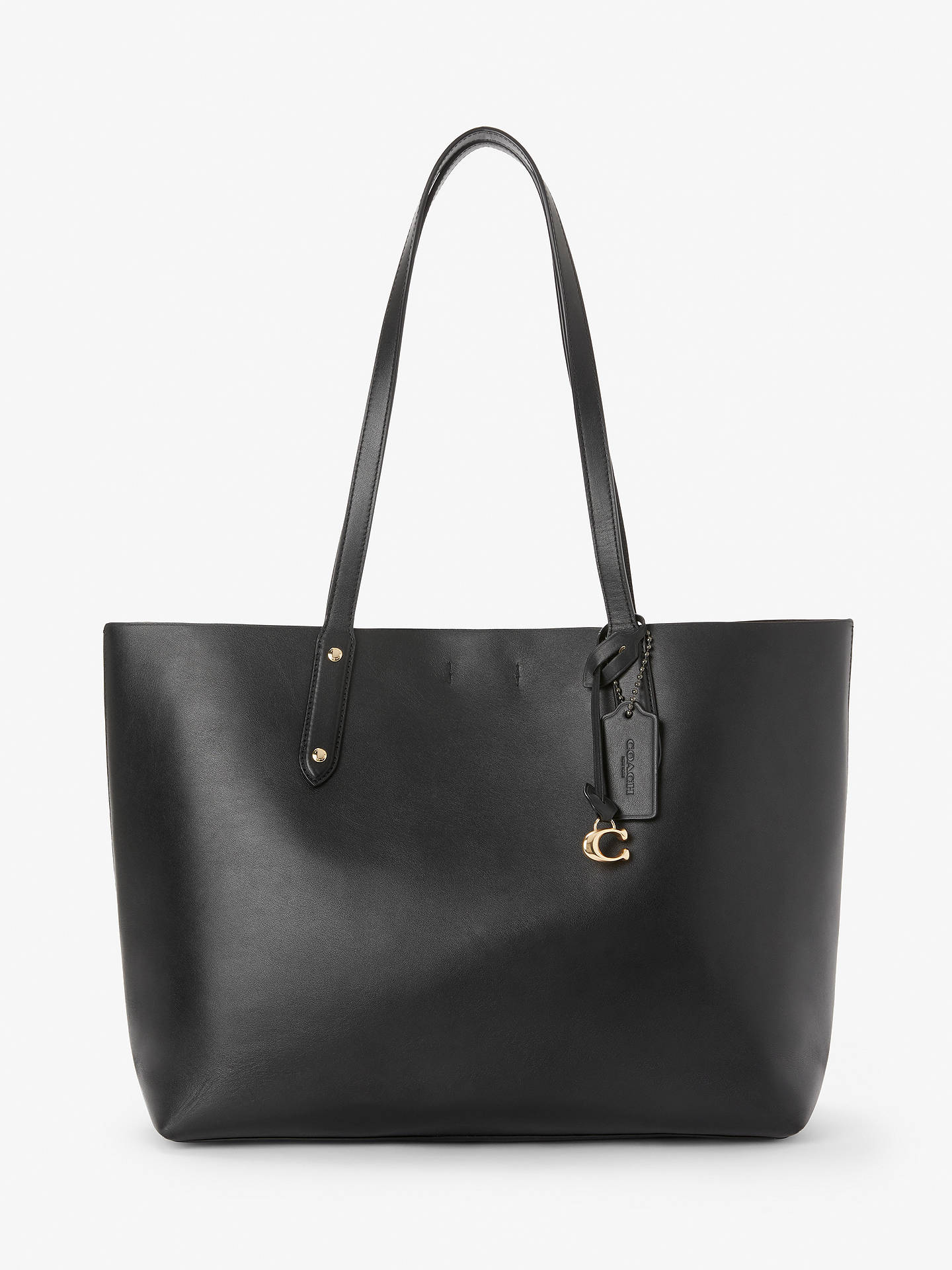 85b5696604 Coach Central Leather Tote Bag, Black