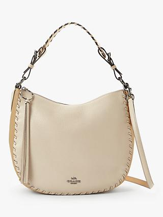 6947073ab6 Coach Sutton Whipstitch Pebbled Leather Hobo Bag, Ivory/Multi