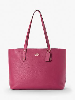 ce12a4650488 Coach Central Leather Zip Top Tote Bag