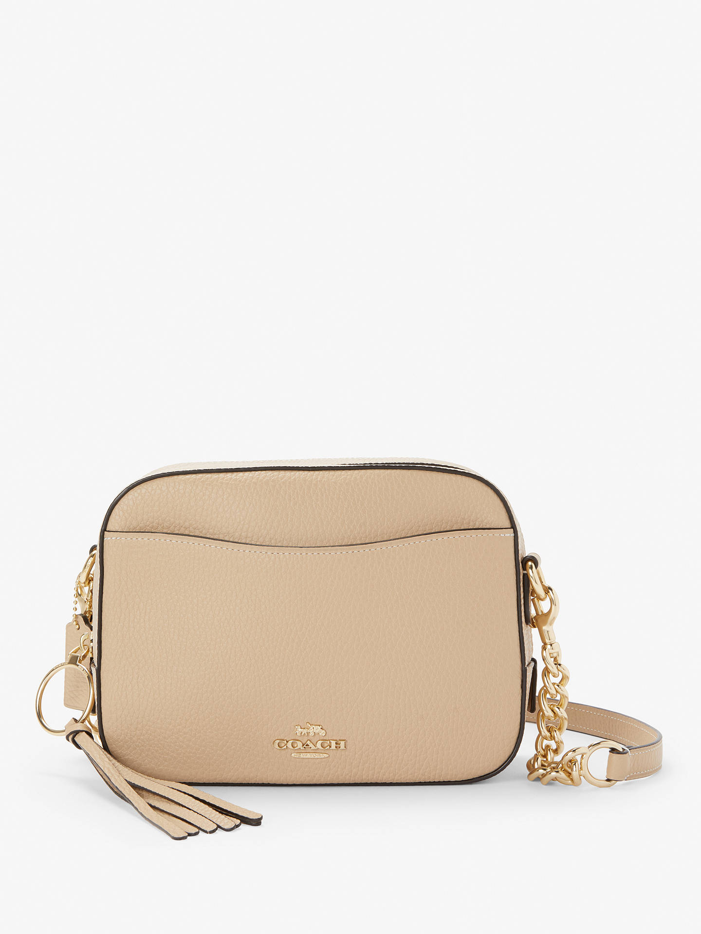 d7cc35a3b2c Buy Coach Leather Cross Body Camera Bag, Beechwood Online at johnlewis.com  ...