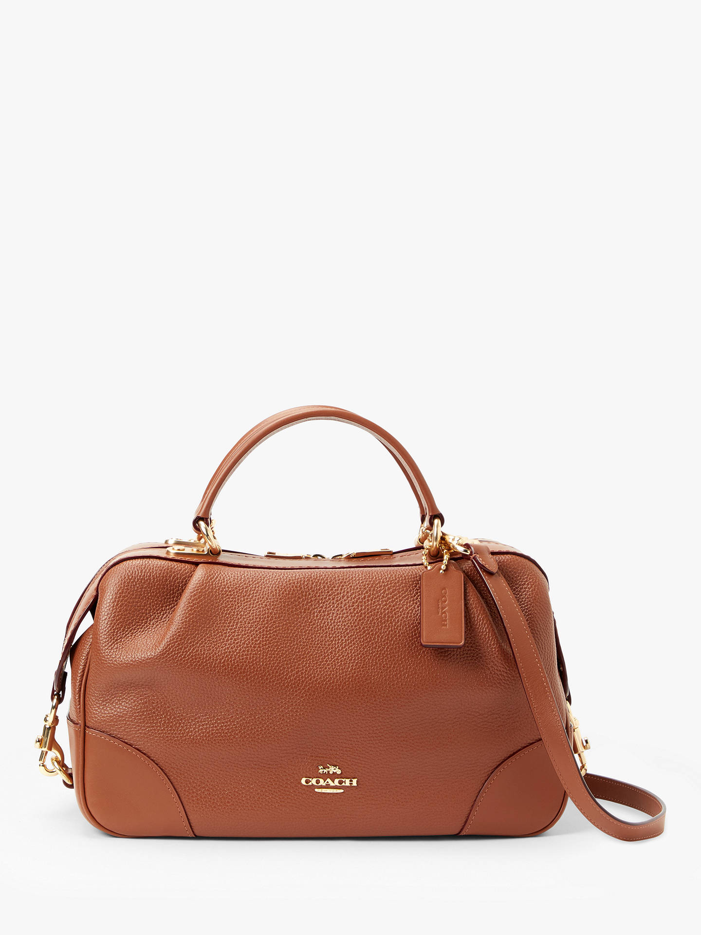 f0498c516e Buy Coach Aidy Leather Satchel Bag, 1941 Saddle Online at johnlewis.com ...
