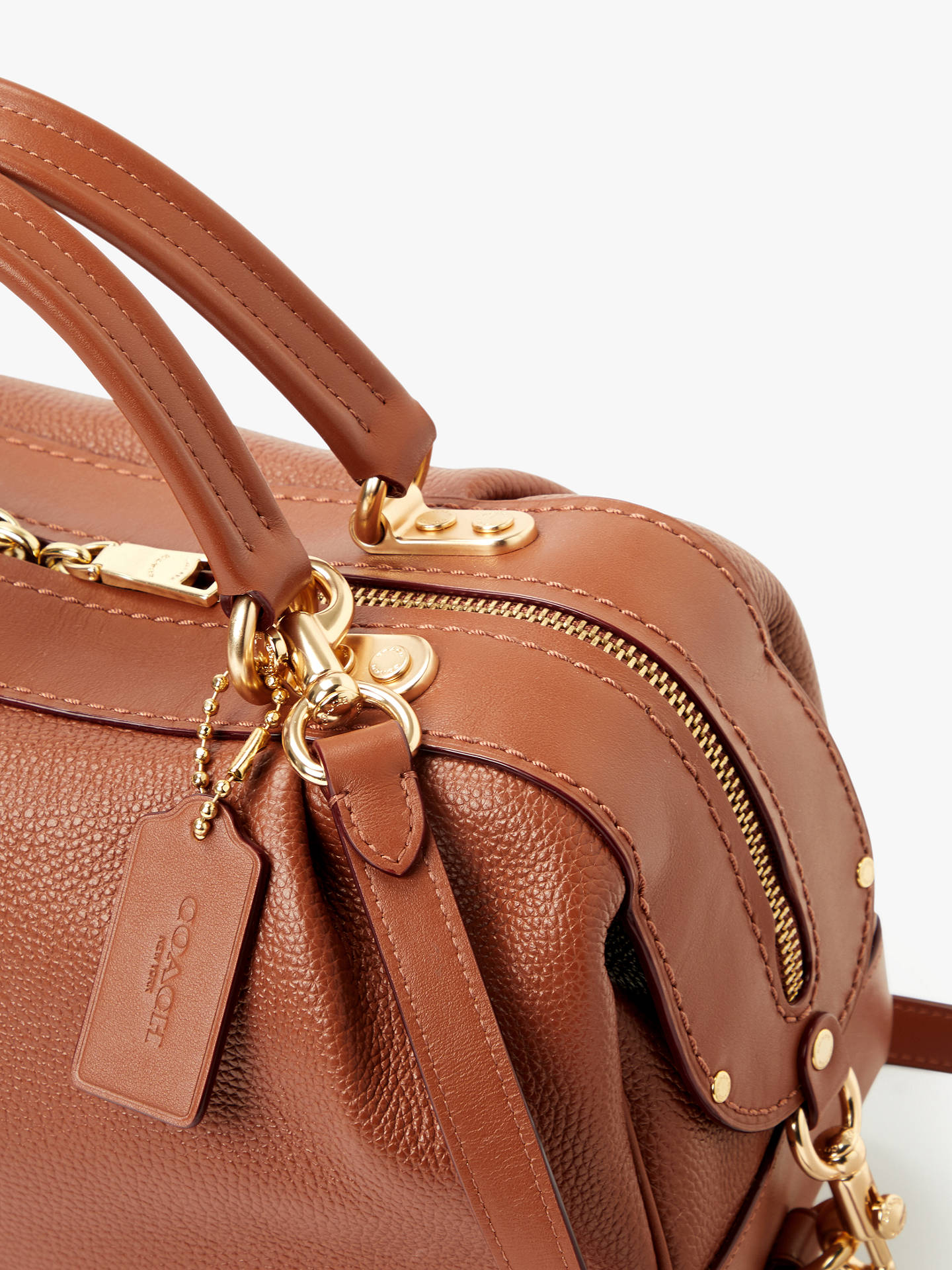 ee7f0d42c3 ... Buy Coach Aidy Leather Satchel Bag, 1941 Saddle Online at johnlewis.com