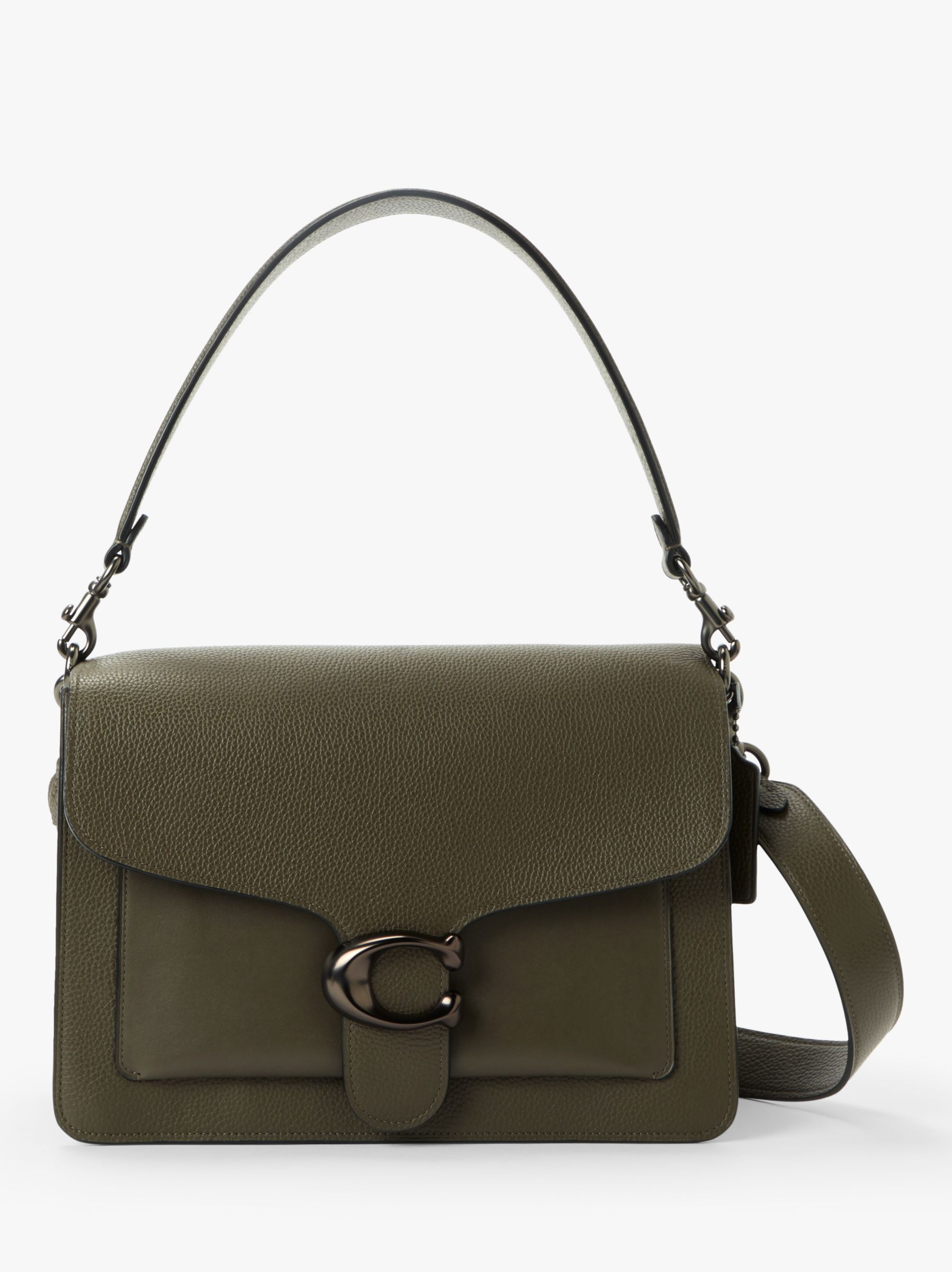 a98e36a15b2038 Coach Tabby Large Leather Shoulder Bag at John Lewis & Partners