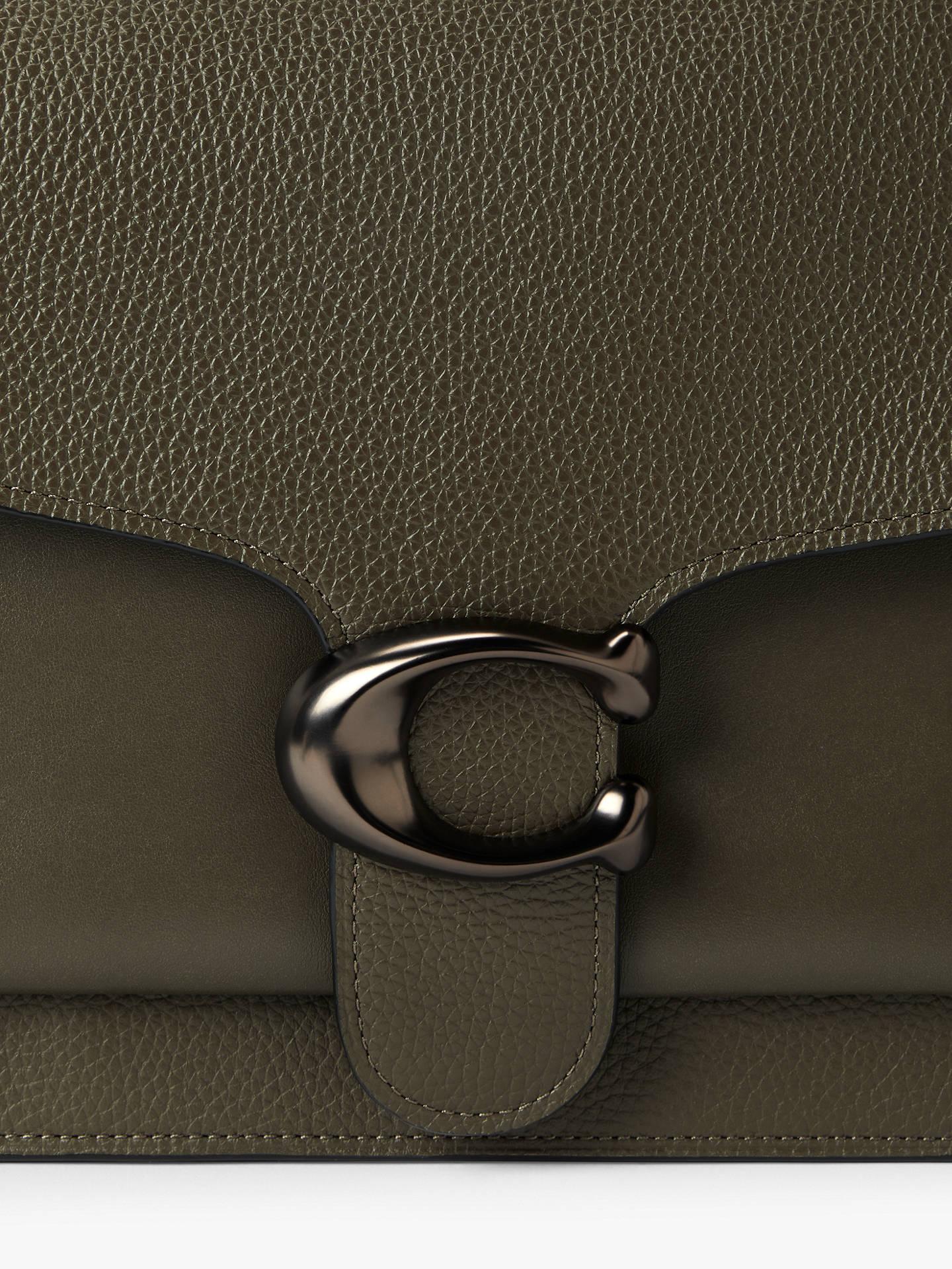 3002e63061d Coach Tabby Large Leather Shoulder Bag, Moss