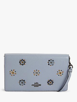 Coach Hayden Rivets Leather Messenger Bag, Mist