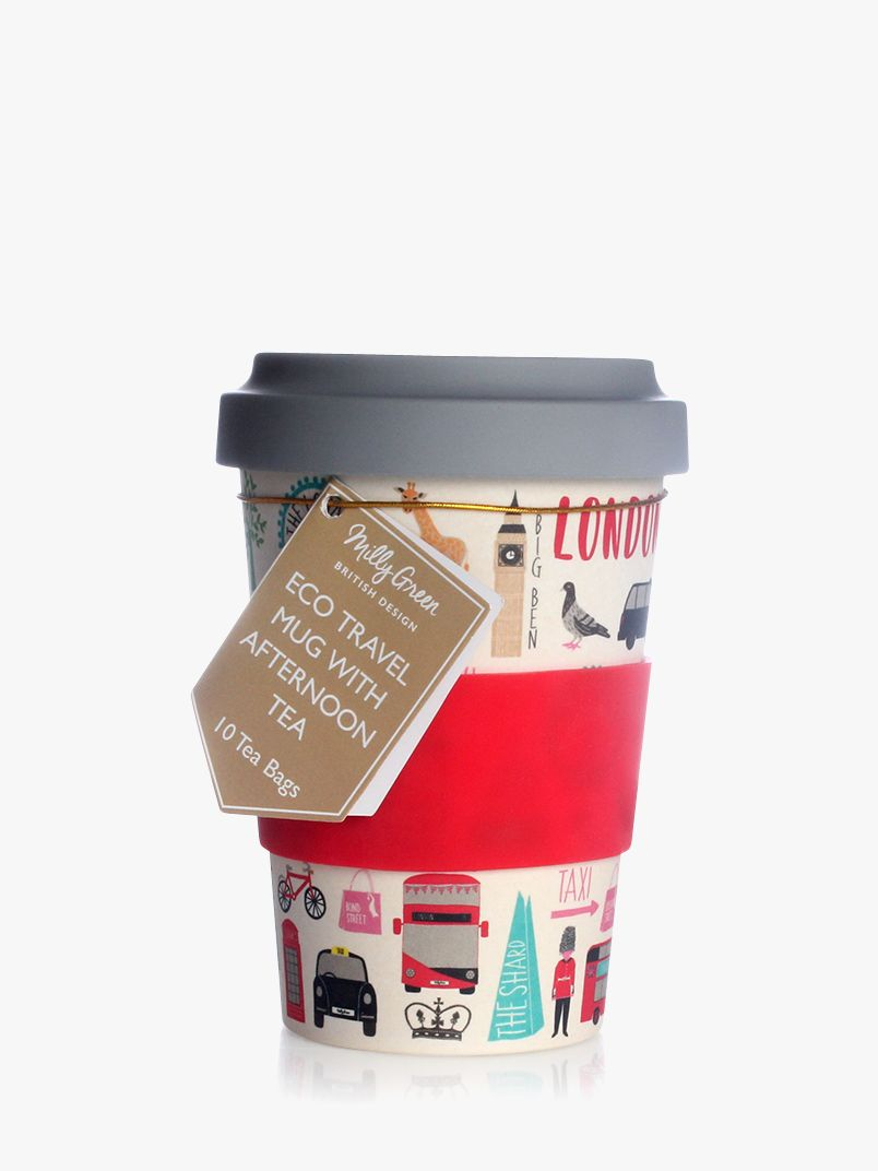 Milly Green Milly Green London Adventures Eco Travel Mug and 10 Tea Bags