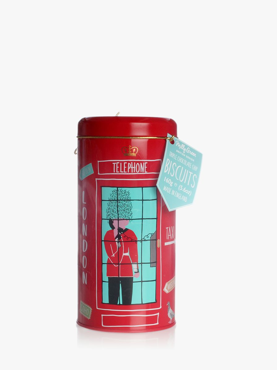 Milly Green Milly Green London Adventures Telephone Box Biscuit Tin, 160g