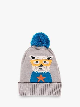 Powder Westie Bobble Knit Hat, Slate