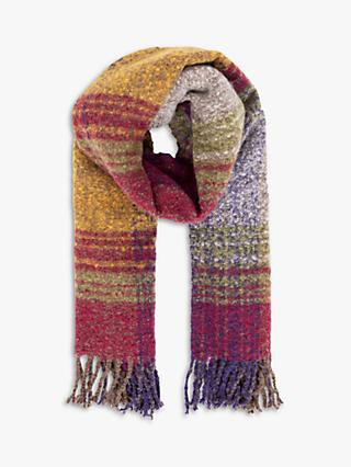 Powder Maggie Check Scarf, Autumn Mix