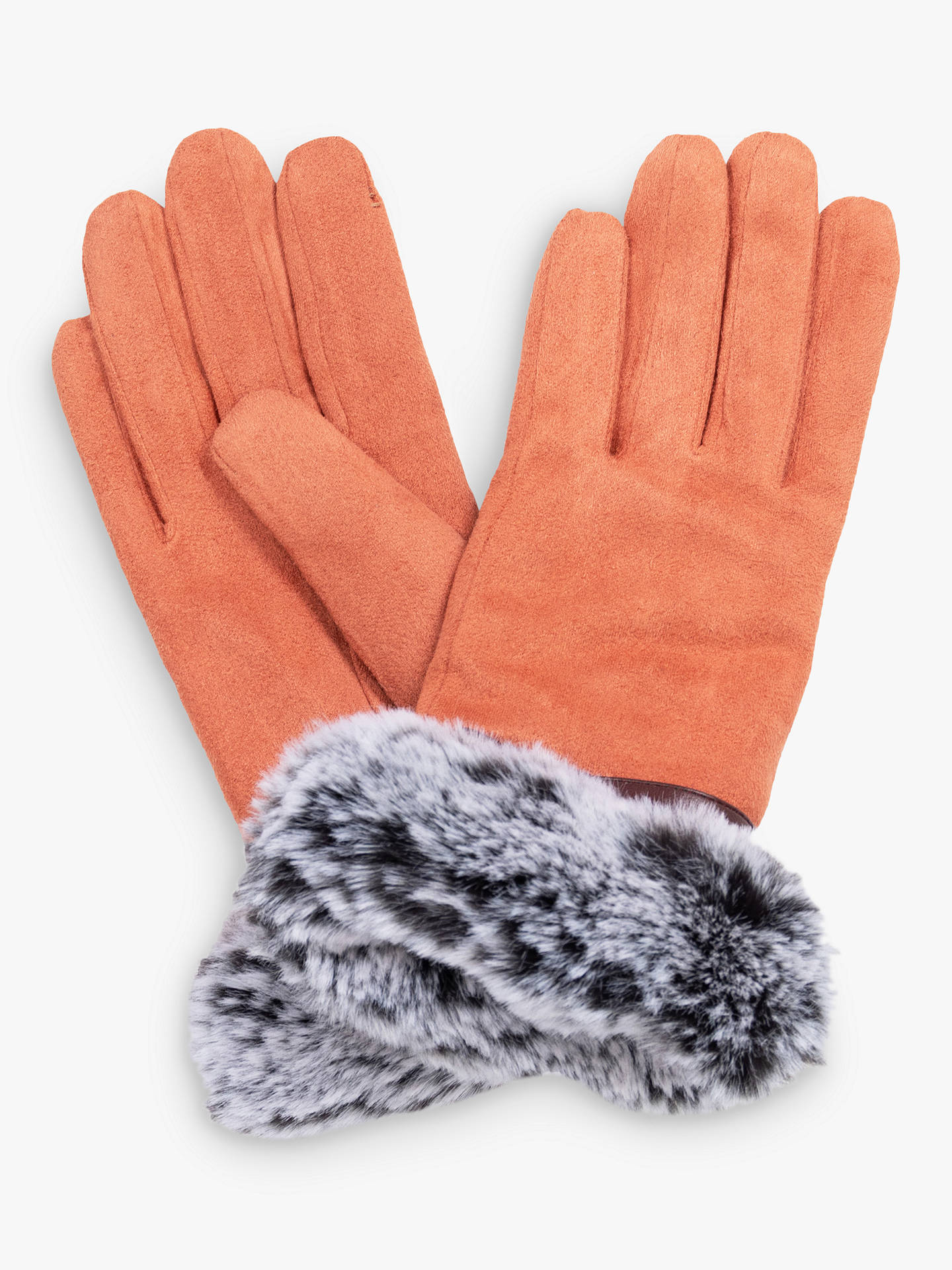 Buy Powder Penelope Faux Suede Gloves, Coral Online at johnlewis.com