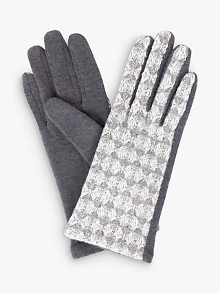 Powder Camilla Wool Gloves, Slate Grey