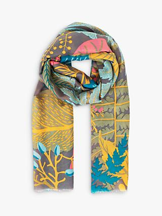 Powder Winter Garden Print Scarf, Slate/Multi