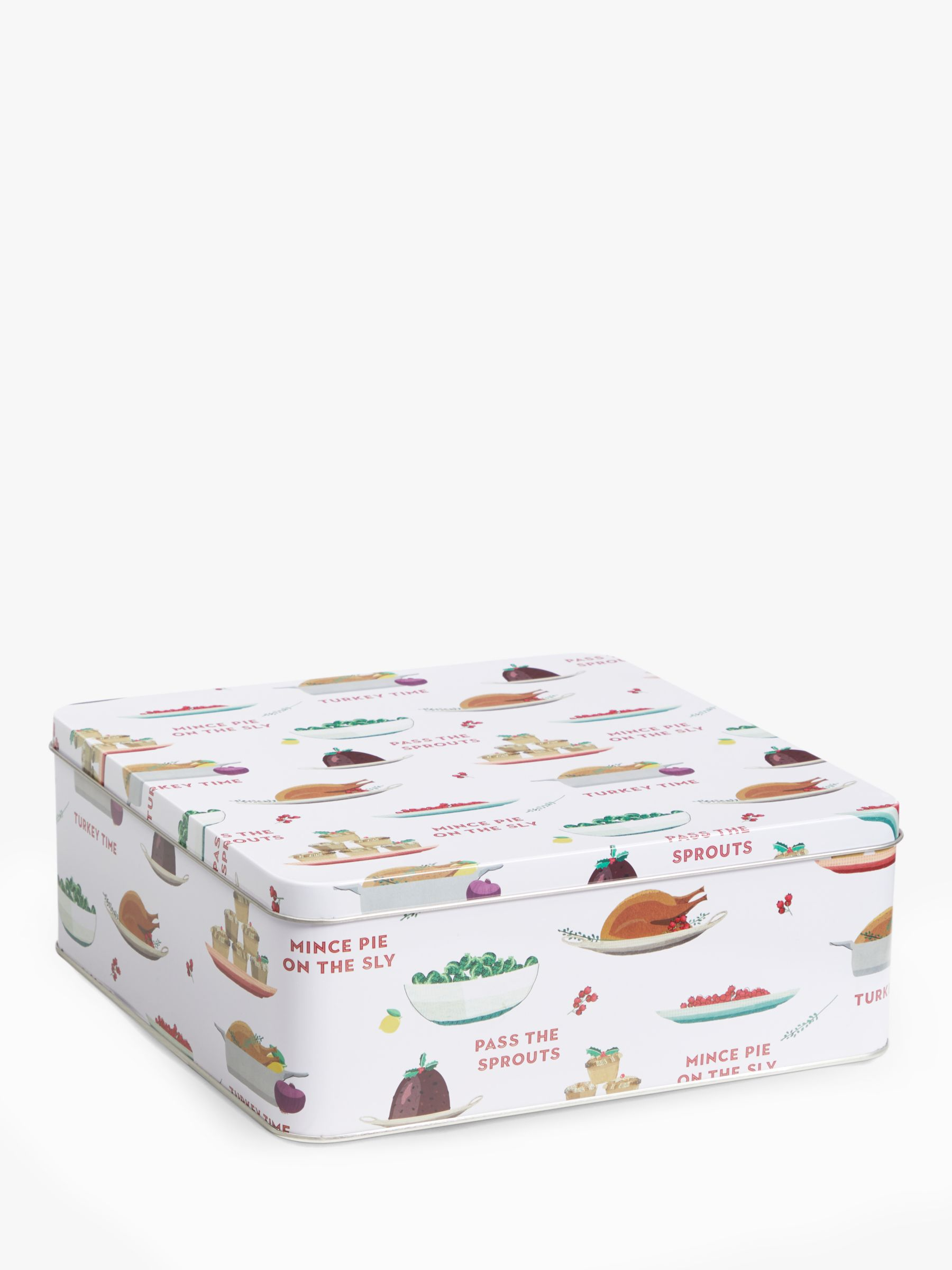 Christmas Dinner In A Tin.John Lewis Partners Christmas Dinner Square Cake Tins 5 9l