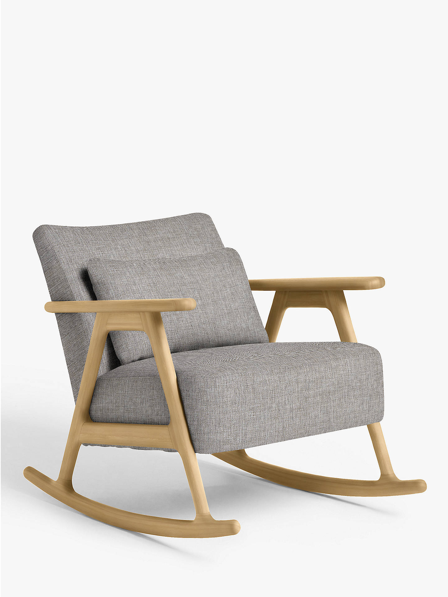 Peachy John Lewis Partners Hendricks Rocking Chair Light Wood Frame Stanton French Grey Download Free Architecture Designs Sospemadebymaigaardcom